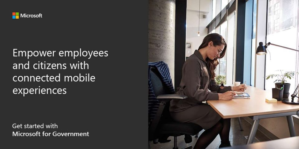 Empower employees and citizens with connected mobile experiences. Get started with Microsoft for Government.