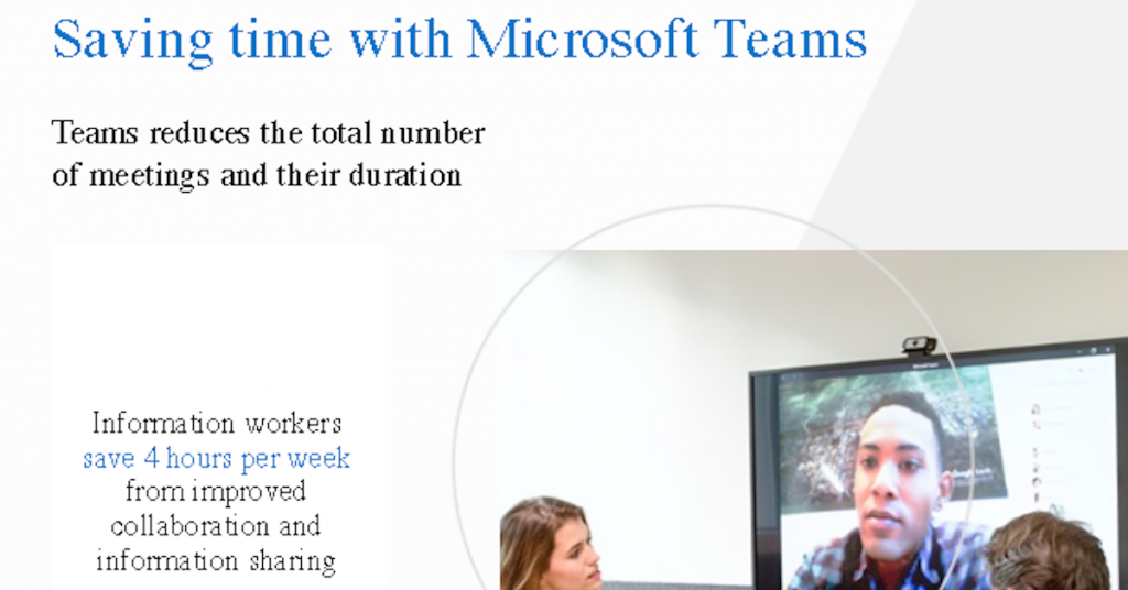 Saving time with Microsoft Teams