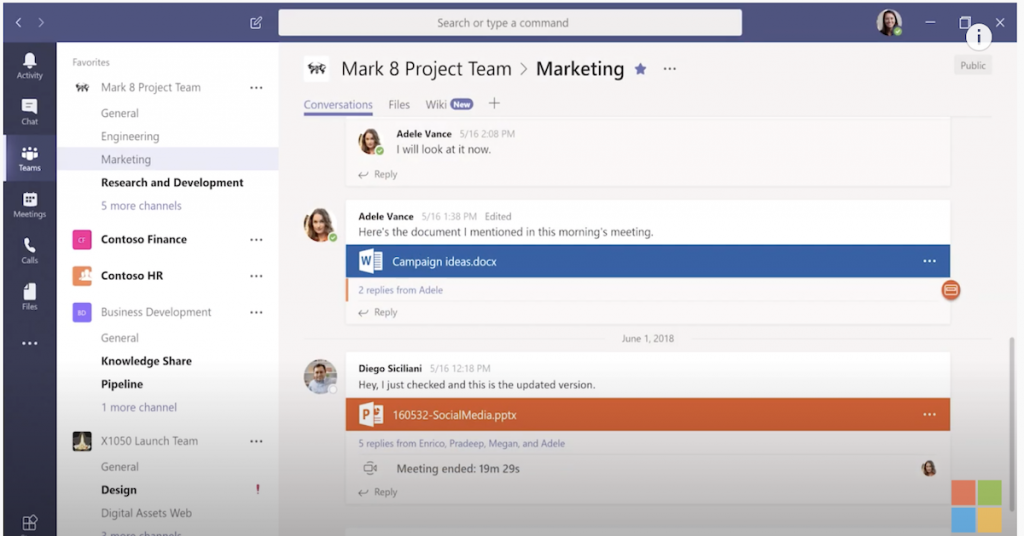 Create instant remote work meetings with Microsoft Teams