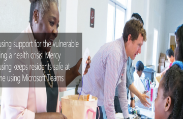 Mercy Housing keeps residents safe at home using Microsoft Teams