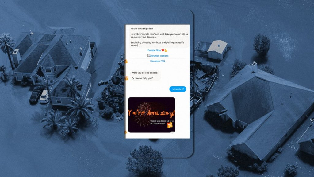 Disaster recovery chatbots