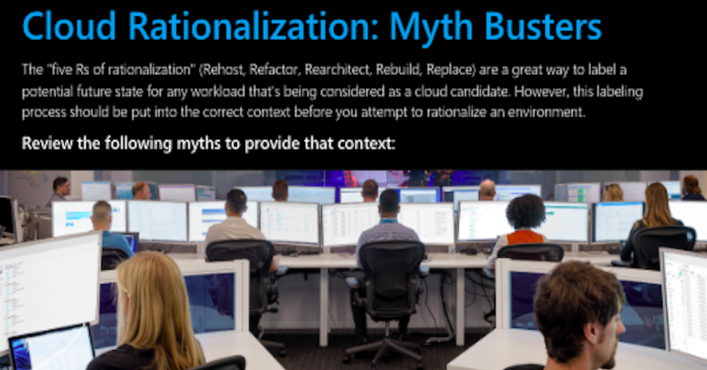 Cloud rationalization: Myth busters