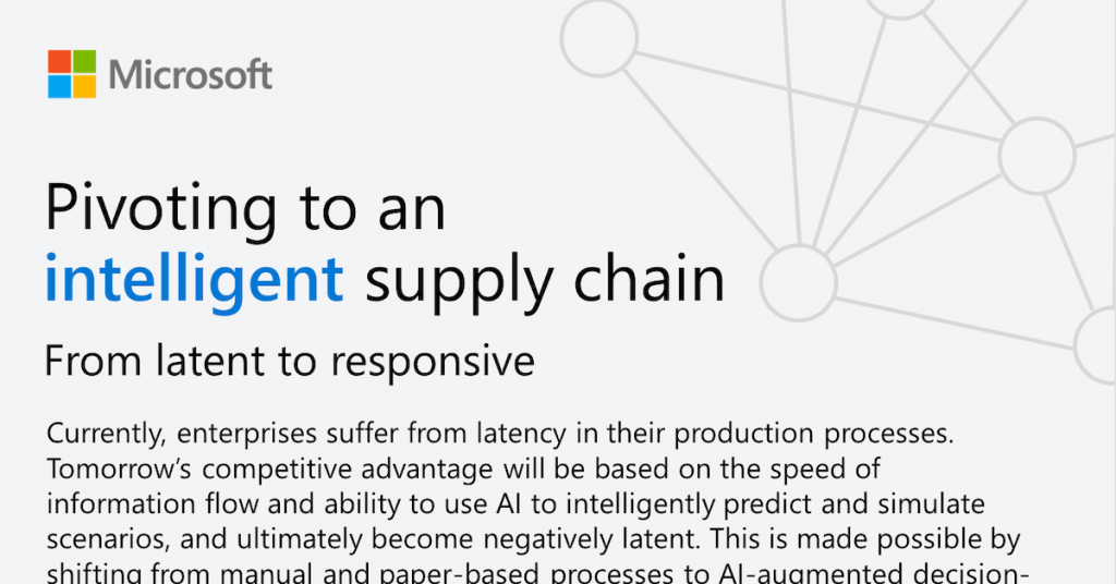 Pivoting to an intelligent supply chain