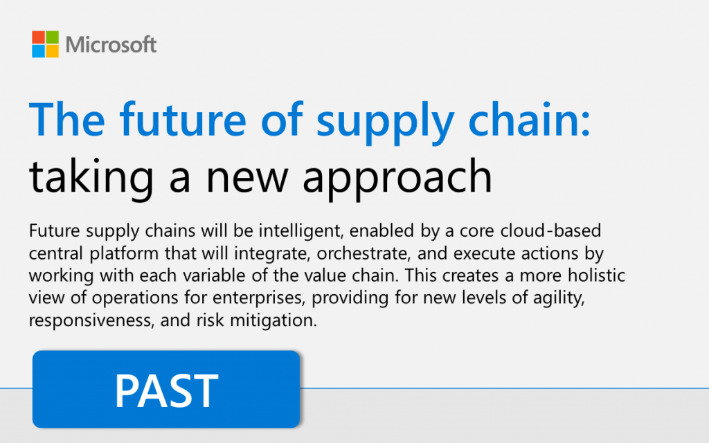The future of supply chain: Taking a new approach