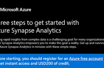 Three steps to get started with Azure Synapse Analytics